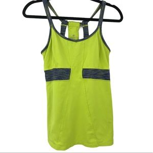 Athleta Prasada tank top Sz M Lime Yoga workout